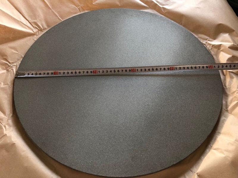 Dia 125mm thickness 1mm Precision 10um titanium foam plate