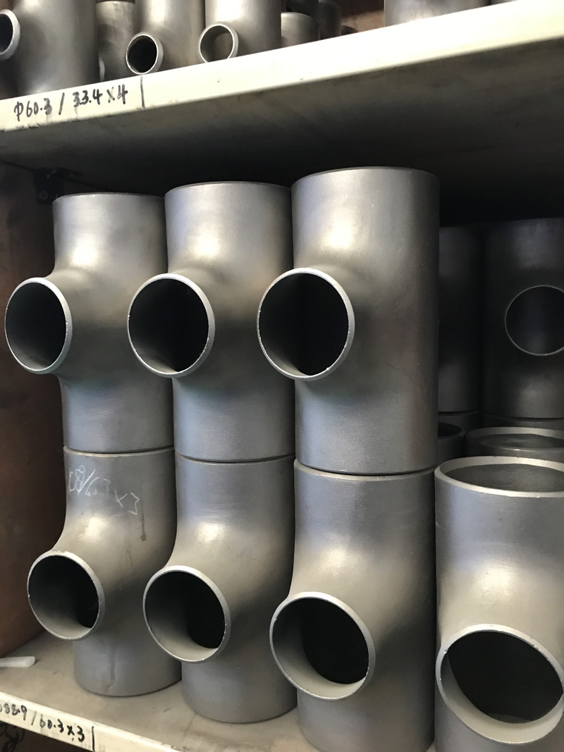 High Pressure Titanium Pipe Fitting Reducing Tee
