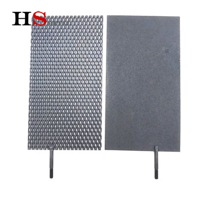 Ru-Ir Coated titanium mesh plate sample completed -Baoji Highstar Titanium Metal