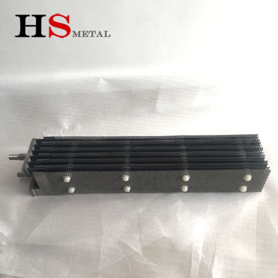 Sample of titanium anode assembly 6pcs anode 7pcs cathode completed--Baoji Highstar Titanium Metal Co., Ltd